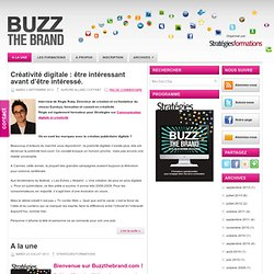 BUZZ THE BRAND du 21 au 25 octobre 2013
