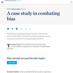 A case study in combating bias