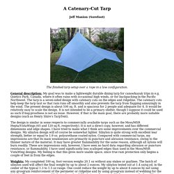 A Catenary-Cut Tarp
