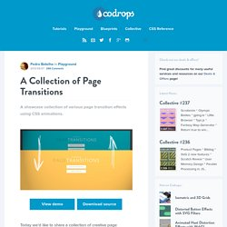 A Collection of Page Transitions