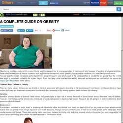 A Complete Guide on Obesity
