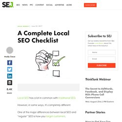 A Complete Local SEO Checklist