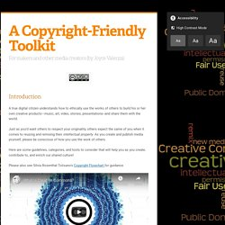 A Copyright-Friendly Toolkit