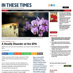 A Deadly Disorder at the EPA