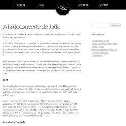 A la découverte de Jade - Rudy Zourane