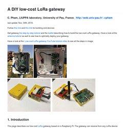 A DIY Low-cost LoRa gateway