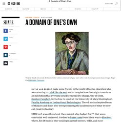 A Domain of One's Own