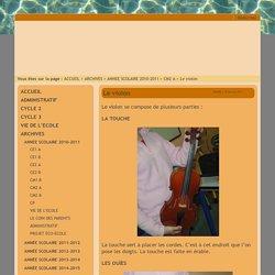 A l'école de La Bouverie ... - Le violon