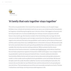 'A family that eats together stays together'