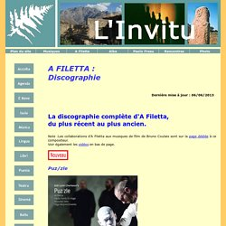 Discographie A Filetta - L'invitu situ
