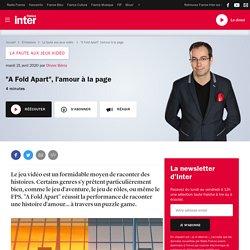 """""""A Fold Apart"""", l'amour à la page / France Inter - Olivier Bénis"""