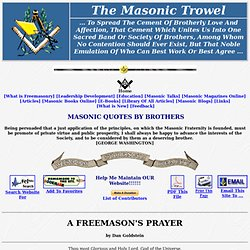 A Freemason's Prayer