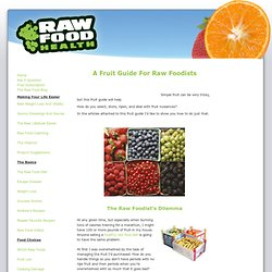 A Fruit Guide For Raw Foodists