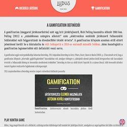 A Gamification definíciói