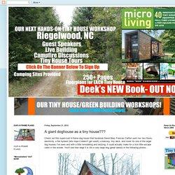 A giant doghouse as a tiny house???