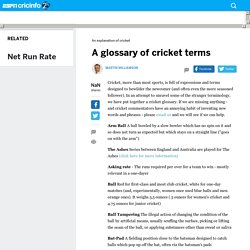 A glossary of cricket terms