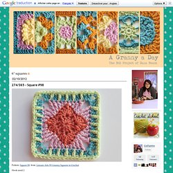 "A Granny A Day: 6"" squares"