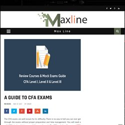 A Guide To CFA Exams