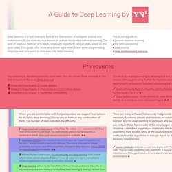 A Guide to Deep Learning by YerevaNN