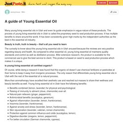A guide of Young Essential Oil