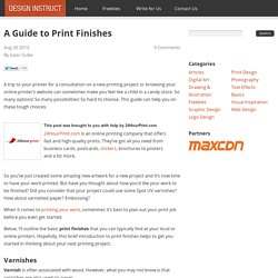A Guide to Print Finishes