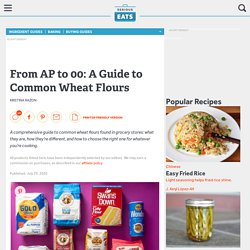 A Guide to Common Wheat Flours