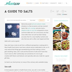 A Guide To Salts