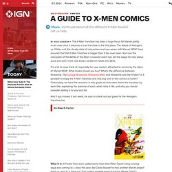 A Guide to X-Men Comics