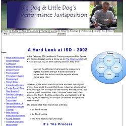 A Hard Look at ISD