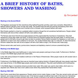 A History of Baths and Showers