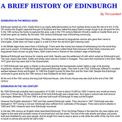 A History of Edinburgh