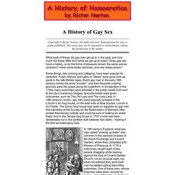 A History of Homoerotica