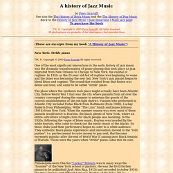 A History of Jazz Music