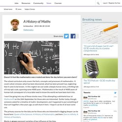 A History of Maths