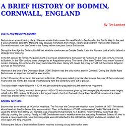 A History of Bodmin