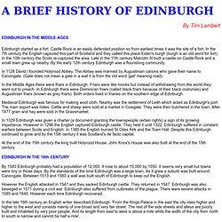 A History of Edinburgh