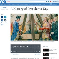 A History of Presidents' Day