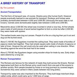 A History of Transportation