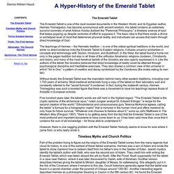 A Hyper-History of the Emerald Tablet