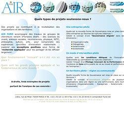 A.I.R. FUND : NOS PROJETS SOUTENUS