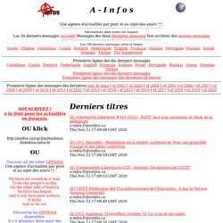 A-Infos: Anarchist News Service