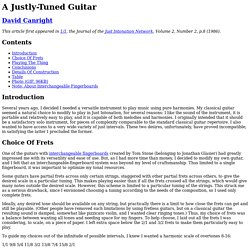A Justly-Tuned Guitar