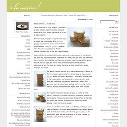 A La Cuisine!: Macarons (IMBB 10)