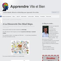 A La Découverte Des Mind Maps.