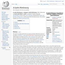 A Latin Dictionary - Wikipedia