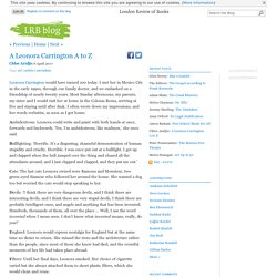 A Leonora Carrington A to Z « LRB blog