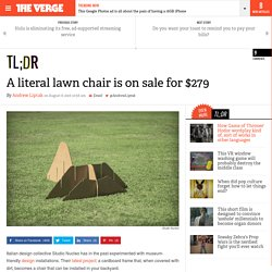 A literal lawn chair is on sale for $279