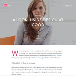 A Look Inside Design at Good
