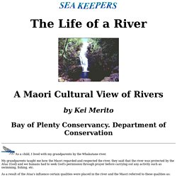 A Maori view of rivers