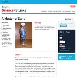 A Matter of State